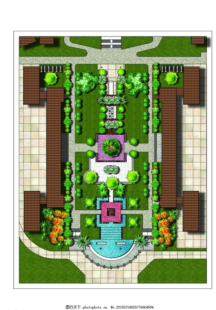 广场彩平图 广场 平面 彩色 布置 ps图 设计 环境设计 景观设计 300