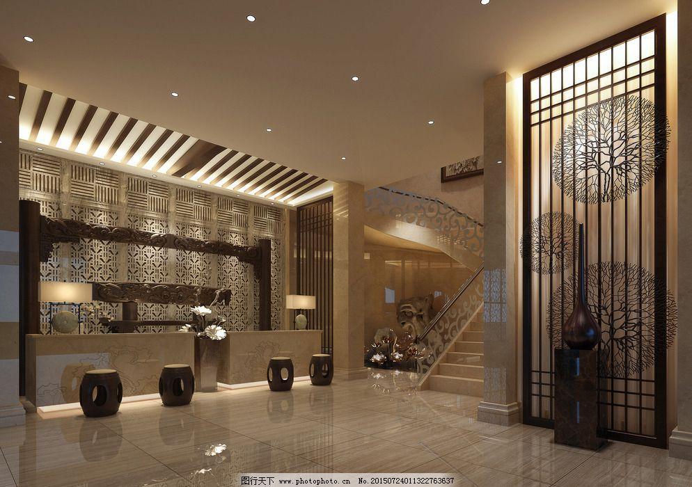 装潢设计 装饰设计 酒店大堂总台 总台 酒店前厅        装饰