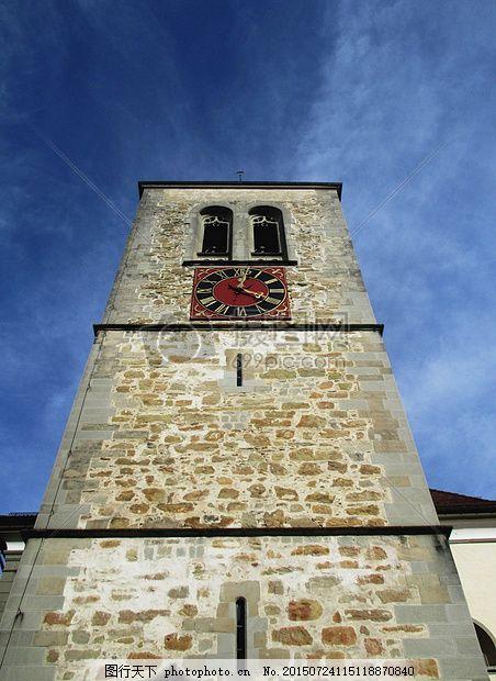 教会 天主教 毛里求斯 晚哥特式 塔 钟塔 钟楼 天然石材 红色图片