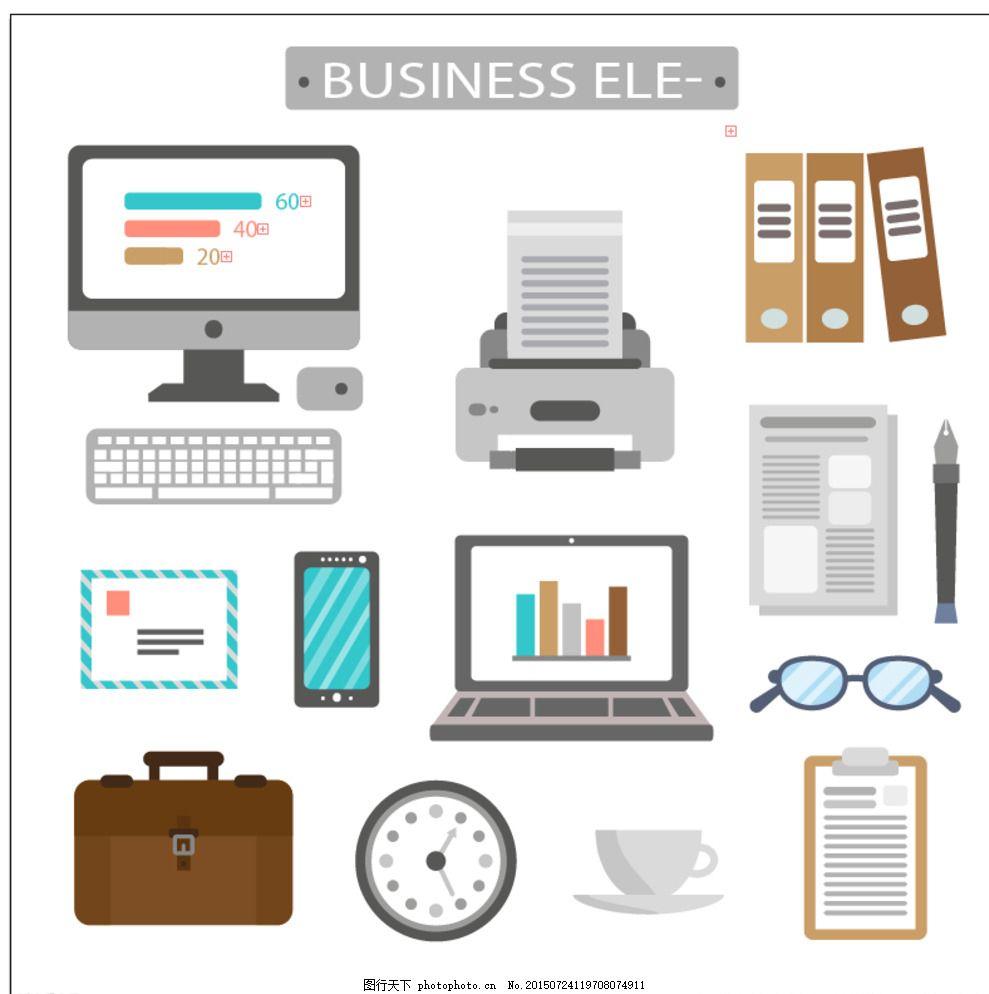 手绘商业信息图表图片