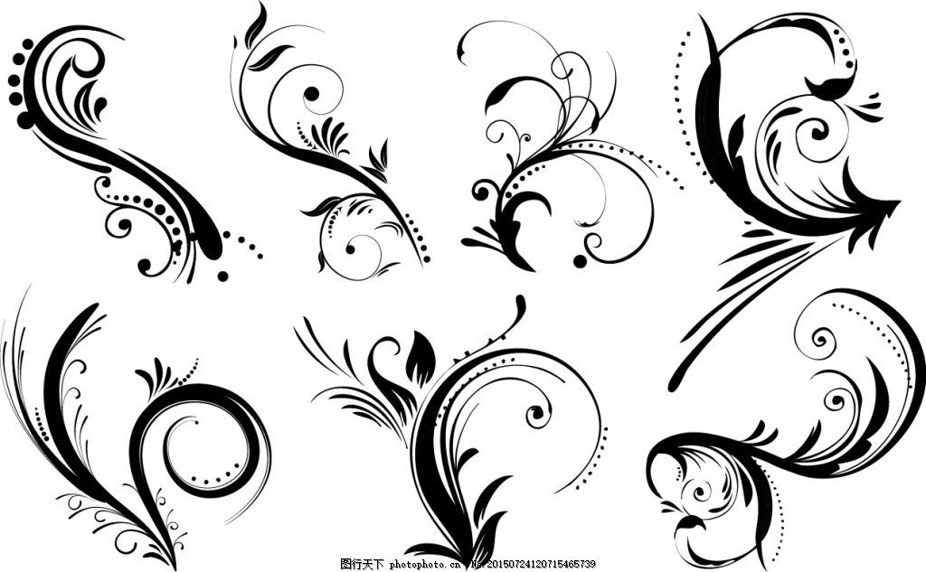 花边花藤素材 花边素材 背景素材 装饰 白色