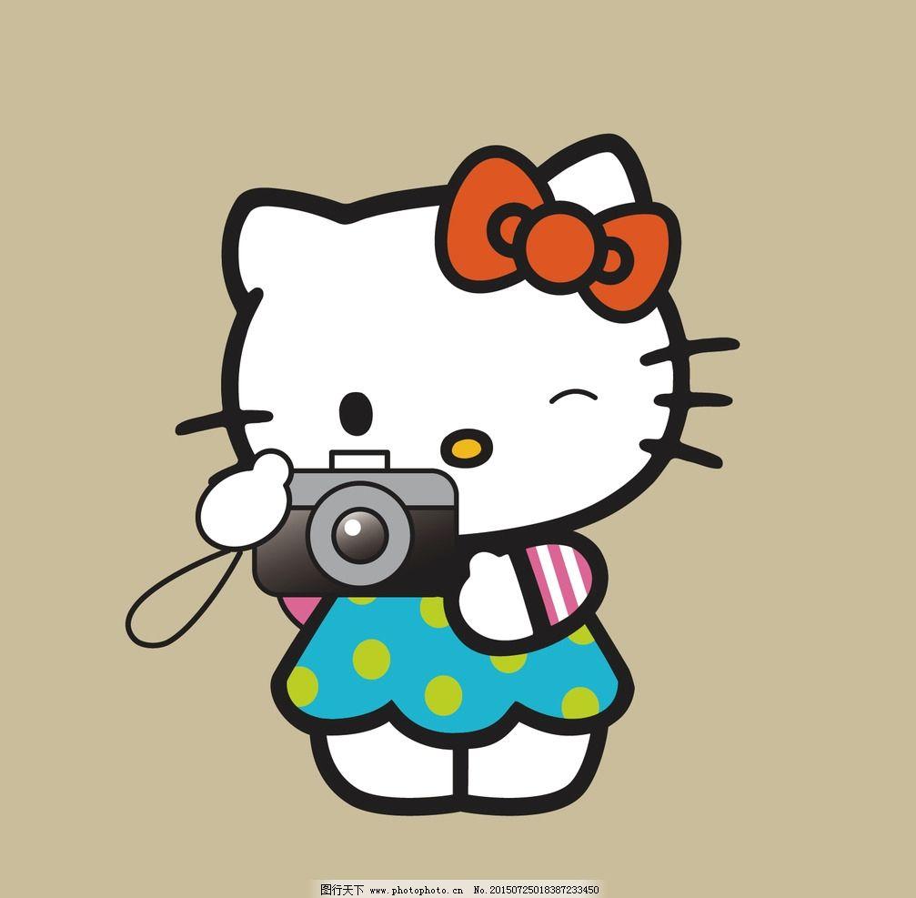卡通人物拿相机