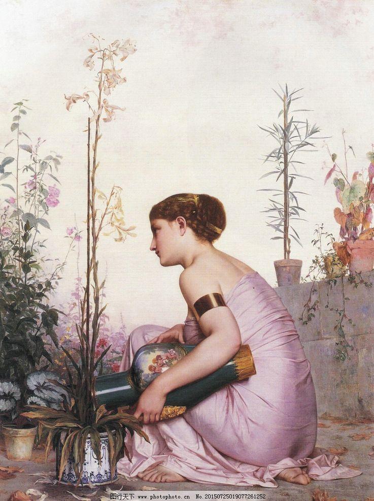 花瓶 装饰画 无框画 欧式油画 唯美 油画艺术 古典油画 写实油画 绘画