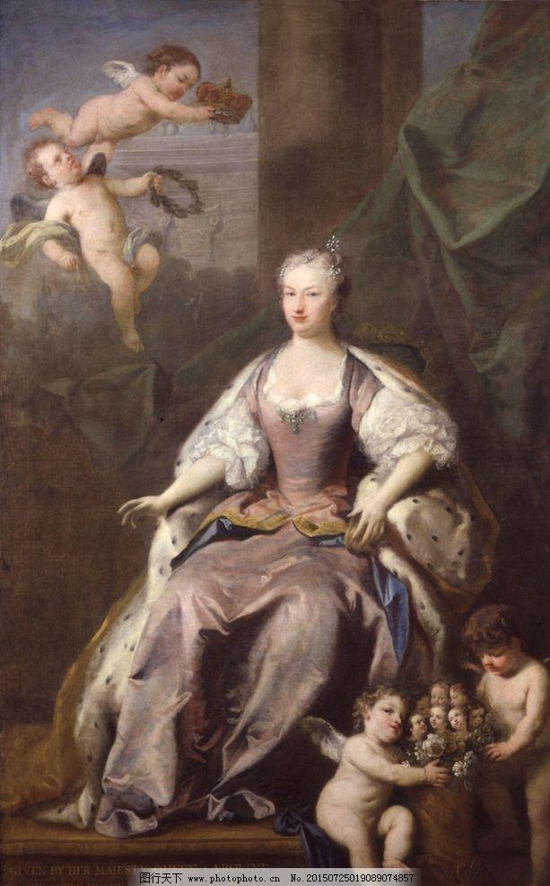 油画美女图片,天使 丘比特 装饰画 无框画 欧式油画