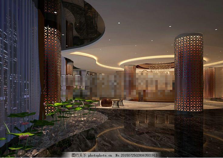 酒店大堂效果图 豪华宾馆 豪华酒店 欧式酒店 酒店大堂设计 酒店大堂