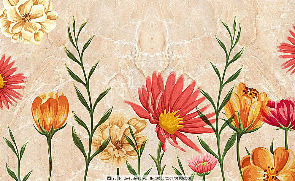 瓷砖贴图 大理石纹 欧式瓷砖 古典 天顶壁画 花卉 吊顶 地板 3d底板