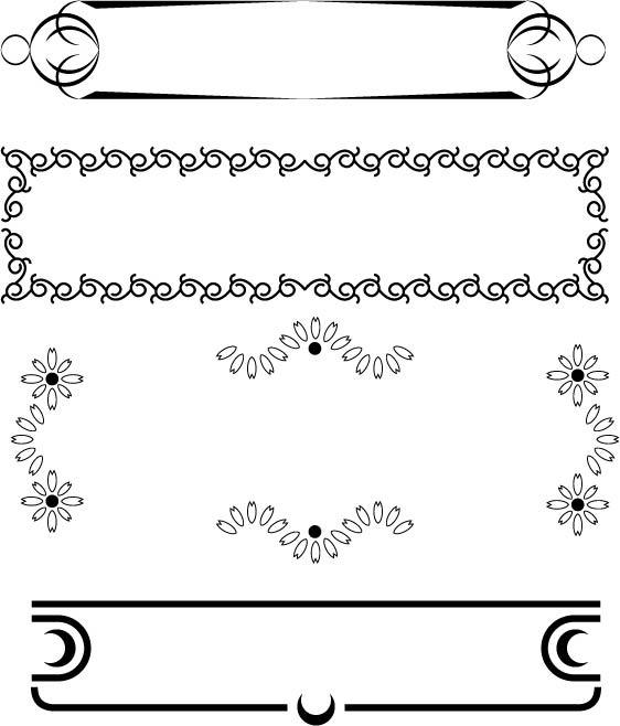 简洁边框2免费下载 黑白 花纹花边 简洁边框 黑白 矢量 简洁边框 花纹