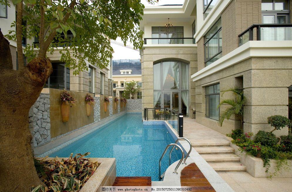 高档别墅游泳池图片