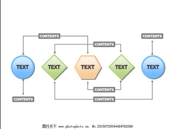 简单过程流程图ppt模板图片