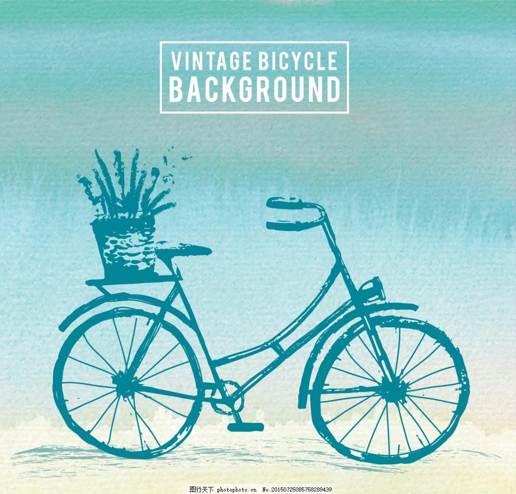 老式自行车素材