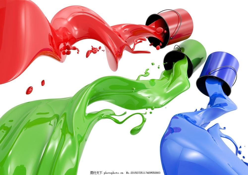 蓝色油漆手绘艺术