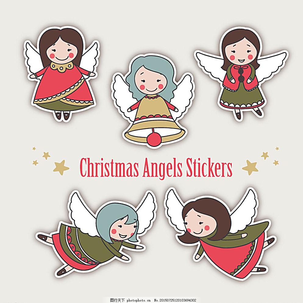 卡通飞翔的天使 可爱天使 可爱女孩 天使翅膀 插画 小天使 天使的翅膀图片