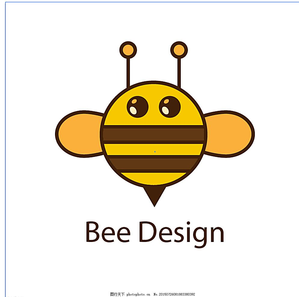 圆 蜜蜂 矢量 设计 标志 图标设计 圆形 自然 模板 动物 徽标 可爱的