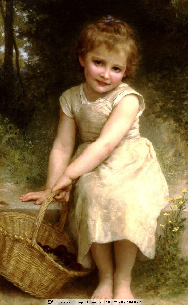 油画女孩图片