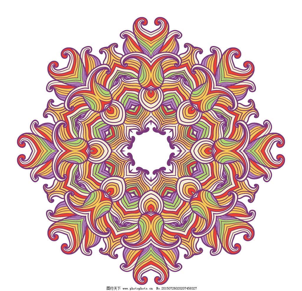 装饰花纹 欧式花纹 花边 圆形花纹 花纹背景 古典花纹 复古 植物花纹