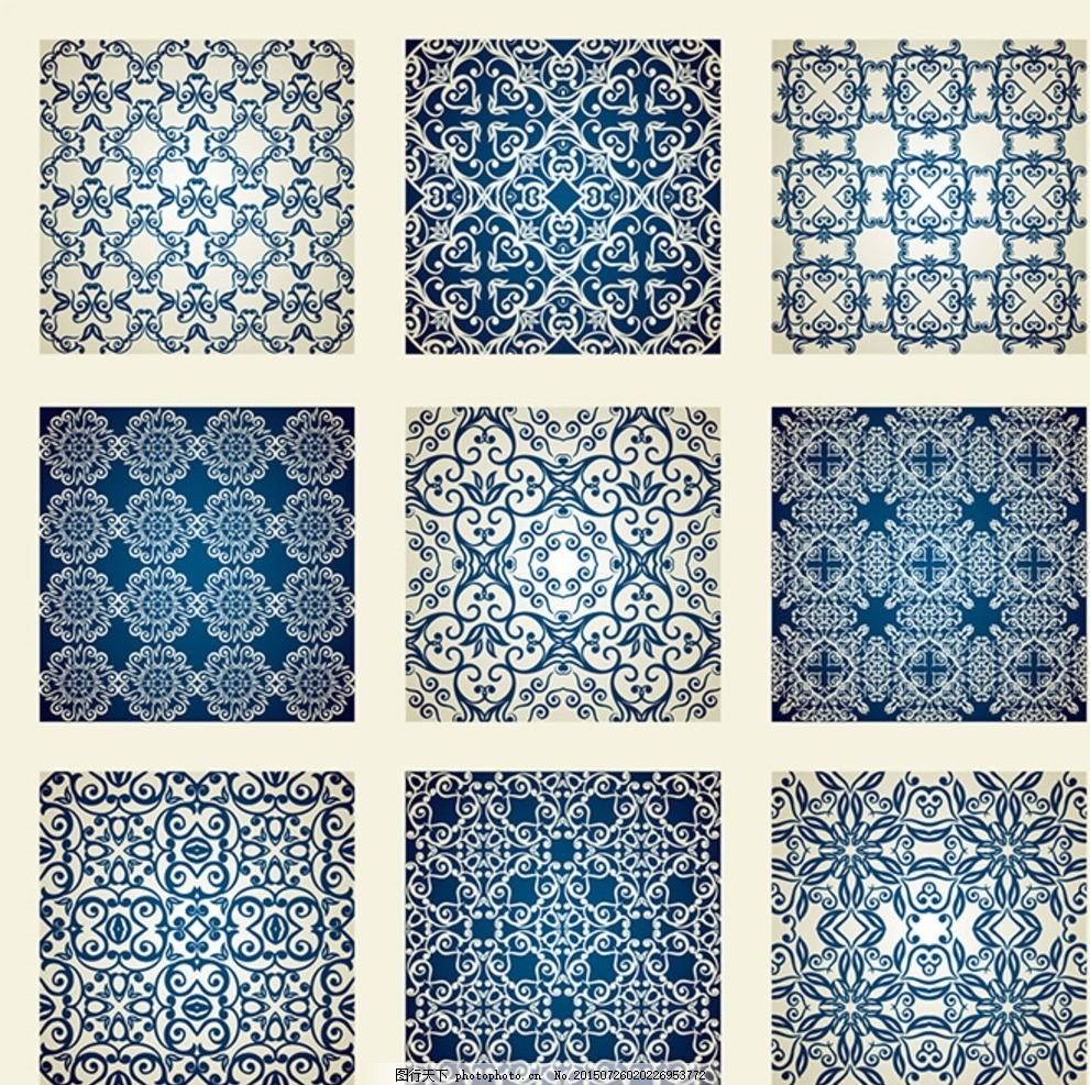 古典底纹背景 花纹 中国风 中式 欧式 欧美 画布 相框底纹 欧式底纹