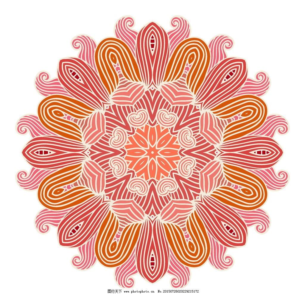装饰花纹 欧式花纹 花纹 花边 圆形花纹 花纹背景 古典花纹 复古 植物图片