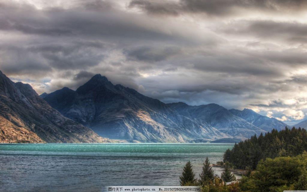 唯美远山风景 唯美远山风景免费下载 唯美图片 黑云层 图片素材
