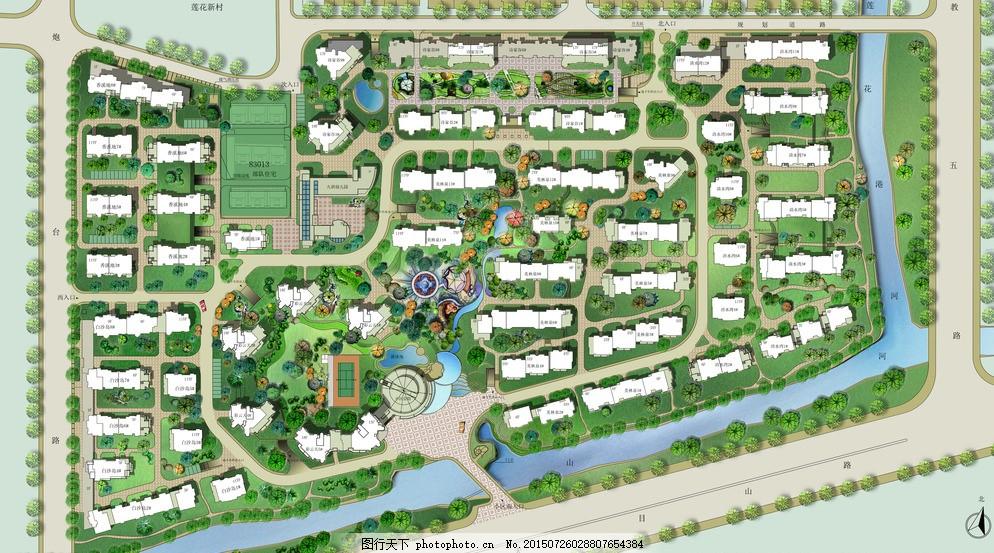手绘平面 风景园林 手绘景观 手绘风景 手绘园林 手绘广场 景观设计