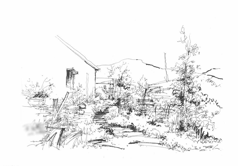 旅游 云南 旅游 实习 写生 手绘 校稿 马克笔 风景 景观 园林 环境