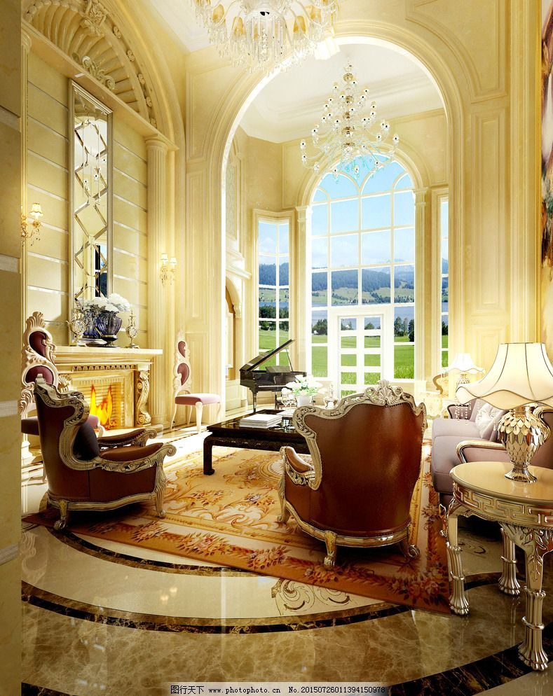 欧式门窗 沙发 设计 室内设计 休息区 装饰装修 休息区 休闲区 欧式