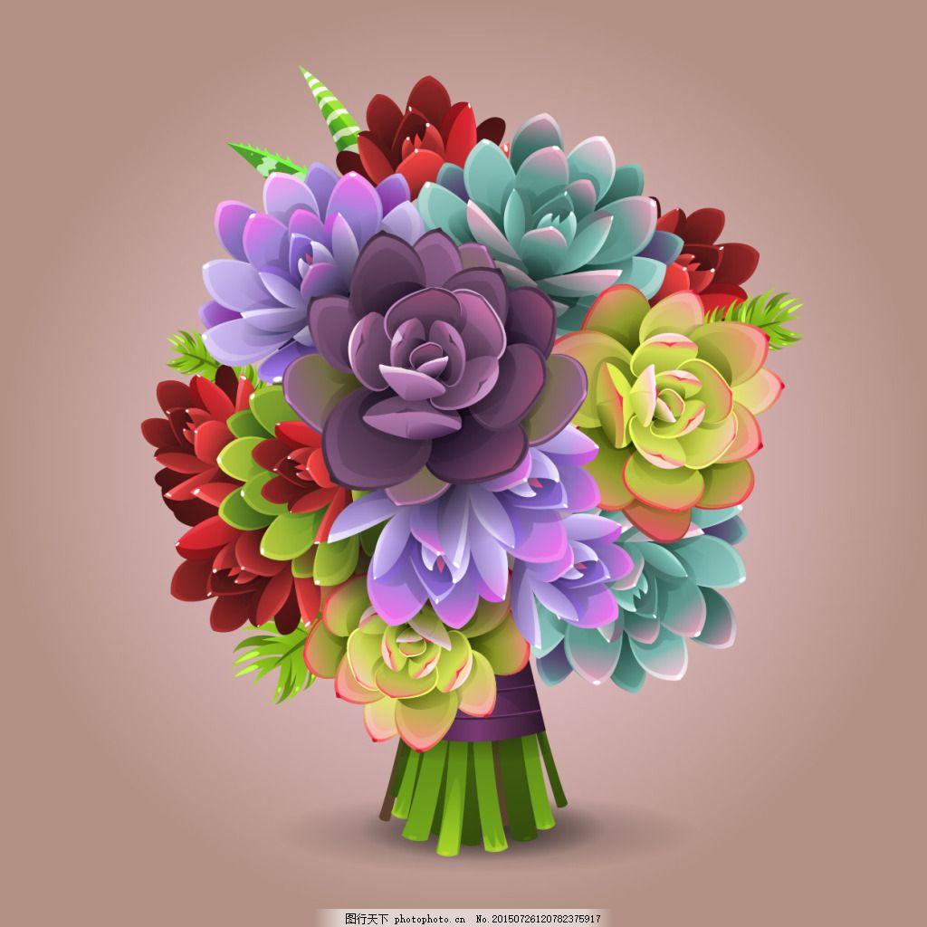 多肉植物花球