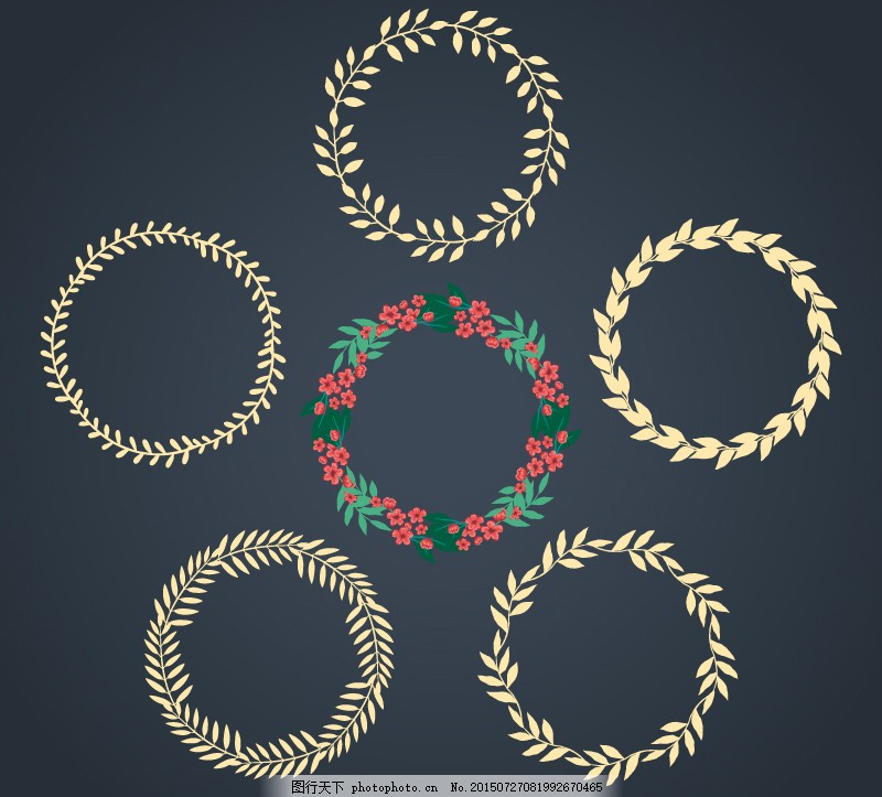 花环v花环模板矢量AI中秋月饼海报设计素材图片