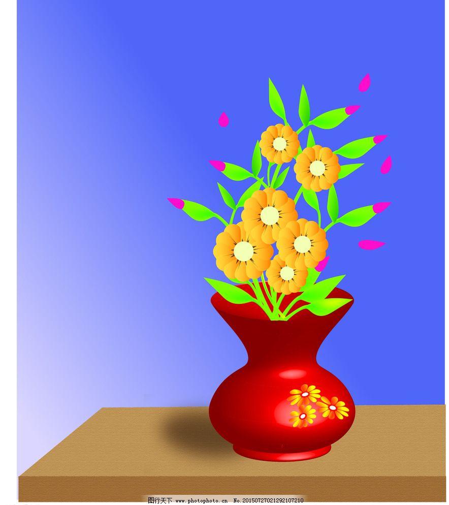 美丽的卡通花瓶
