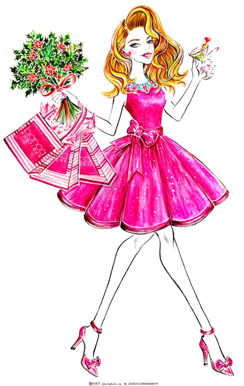 服装设计女士蓬蓬裙