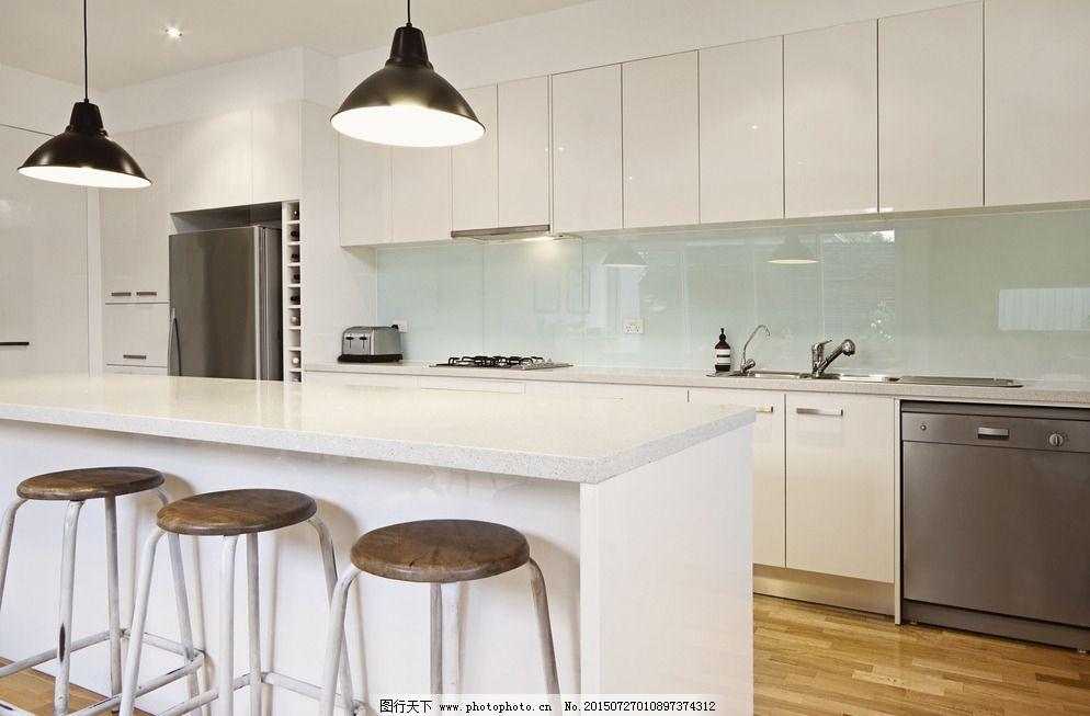 欧式厨房 开放式厨房 一体式厨房 西式厨房 现代厨房 室内摄影 设计
