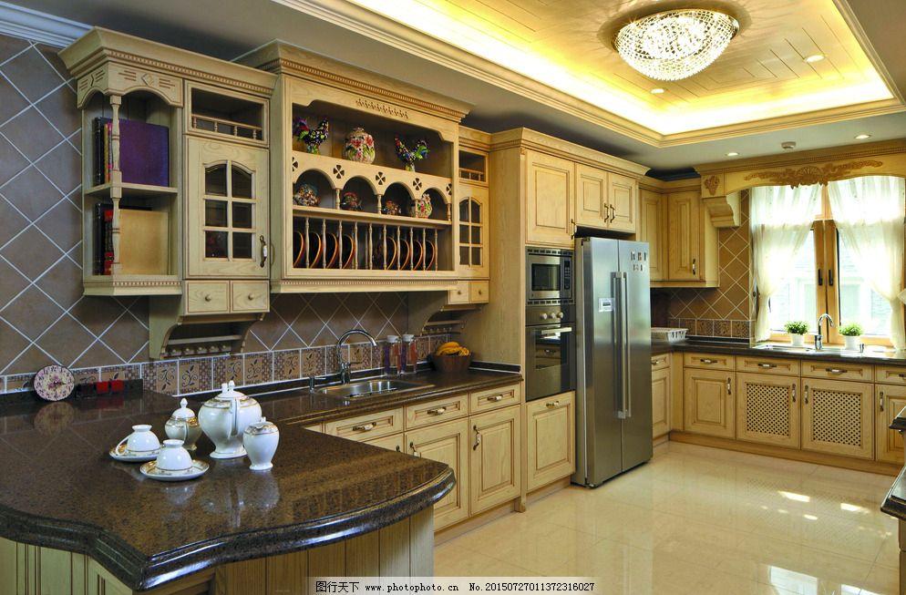 装修效果图 厨房设计 厨房布置 厨房装修 厨具 灯具 餐具 天花设计