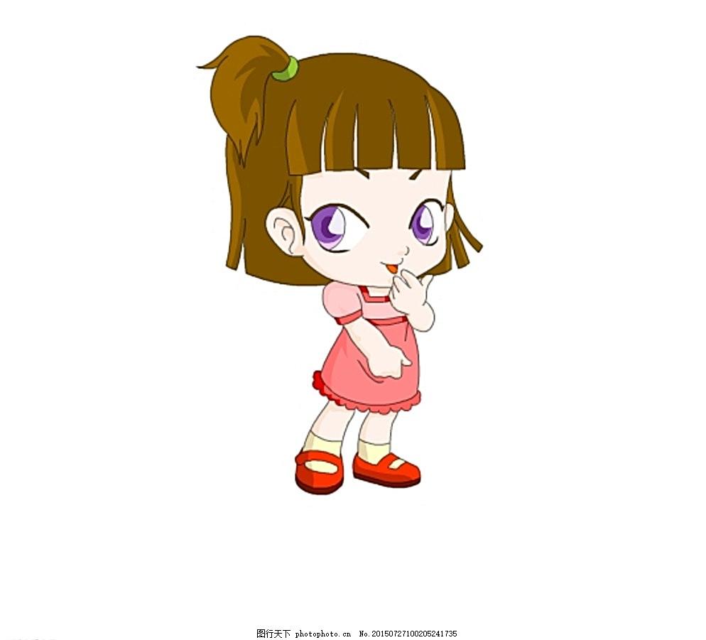 q版小女孩 鼠绘小女孩 小女孩画像 卡通小女孩 多媒体 动画素材图片