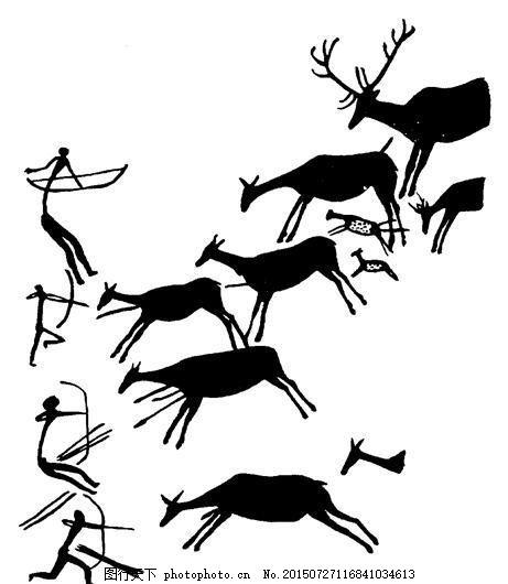 0378_动物图案 装饰图案 设计素材 书画美术 白色