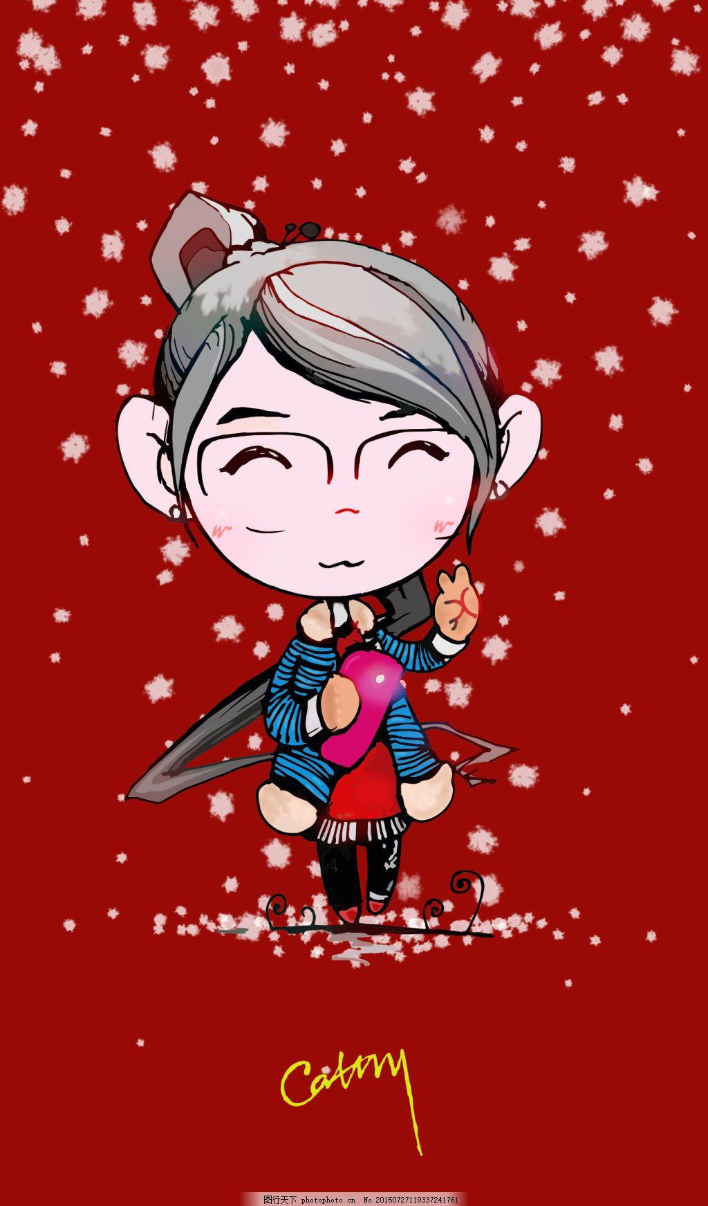 手机壁纸 女孩单独素材 卡通人物 zlppsj 可爱娃娃 手绘鼠绘 微笑开心