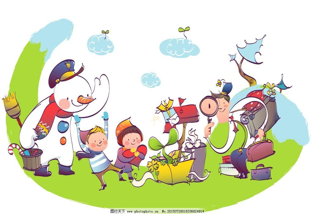童话世界 梦幻卡通人物 放大镜看植物 童话世界奇遇 带孩子旅行 父亲