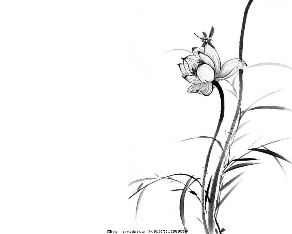 手绘古风莲花边框