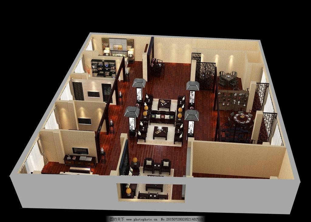 展厅 店铺        中式 红木家具 中式装修 工装 环境设计 室内设计