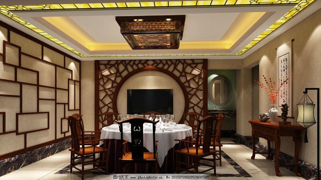 中式酒店包间效果图图片图片