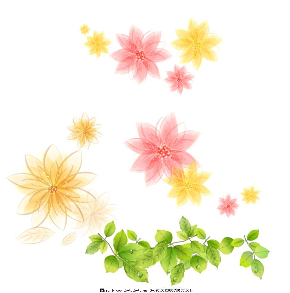 树叶 梦幻花朵图片
