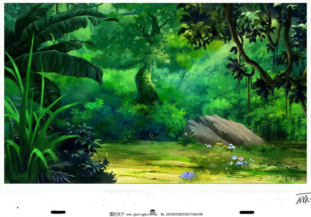 森林系背景素材