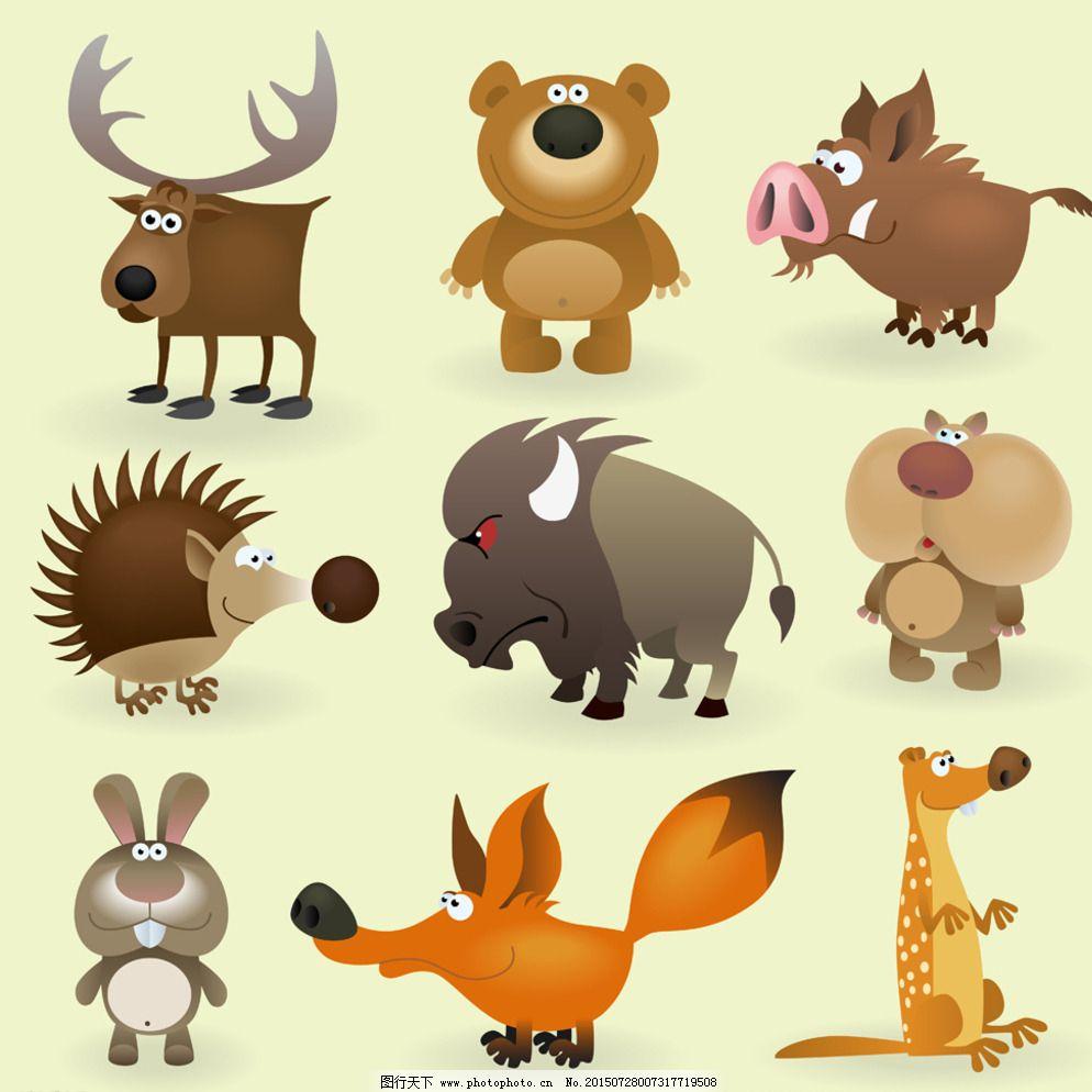 狐狸 可爱 设计 兔子 熊 招贴设计 可爱 动物 插画 熊 狐狸 兔子 设计