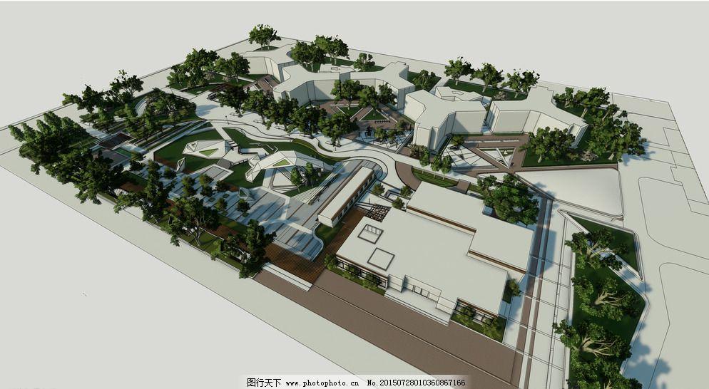 校园广场鸟瞰图图片