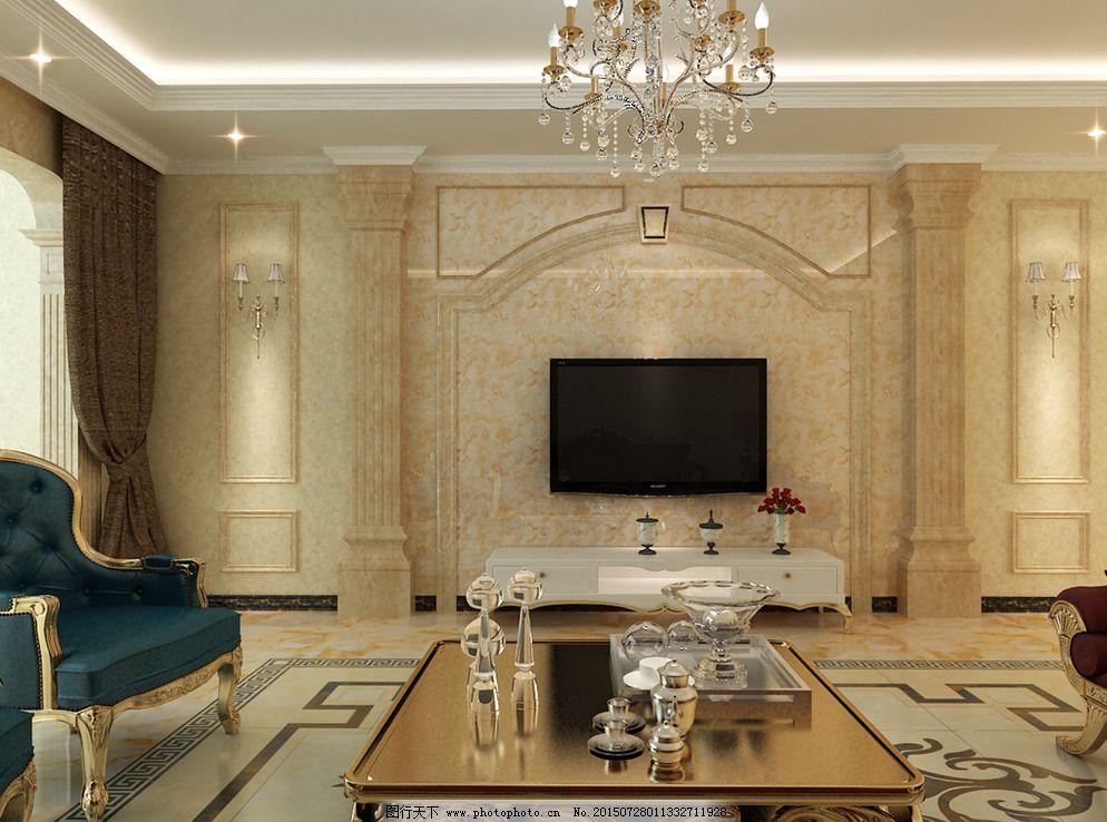 欧式电视墙图片_室内设计