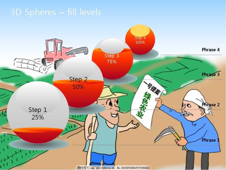 农业卡通ppt模板