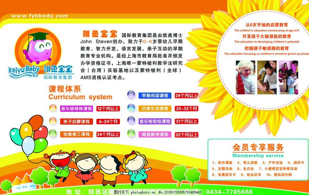 鲱鱼宝宝 海报设计 招贴 幼儿园海报 幼儿早教 课程体系 设计 广告