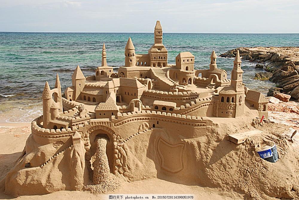 古典建筑 古代城堡 欧洲城堡 建筑设计 海洋海边 自然景观 图片素材图片