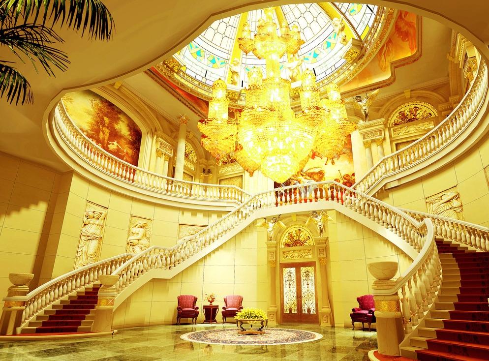 豪华会所装修实景图 会所 豪宅 欧式建筑 装修设计 欧式风格 大厅