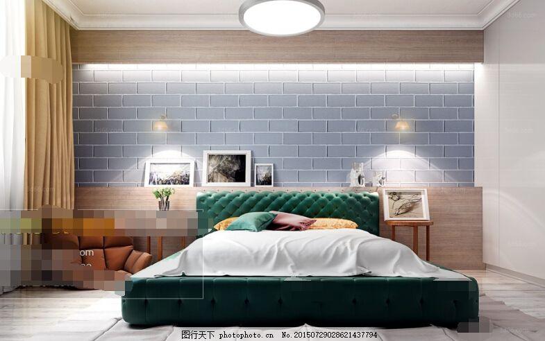 欧式明亮宽大的卧室 复古家具 柜子 实木 灰色图片