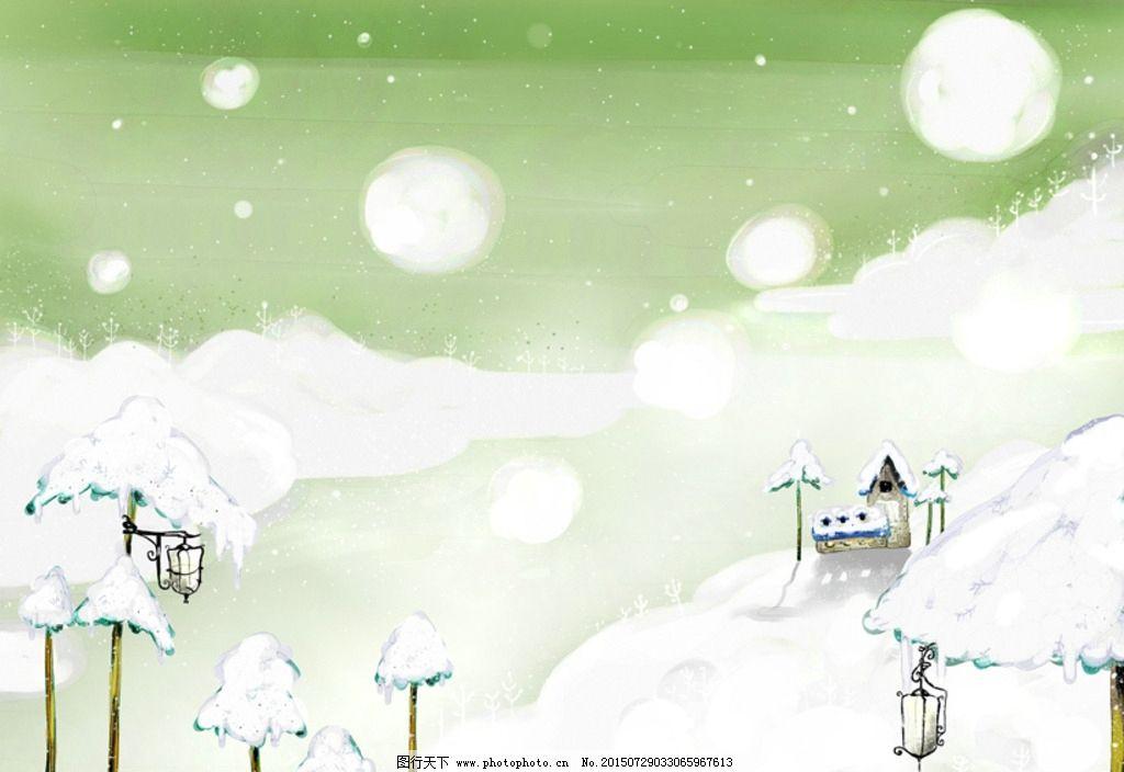 梦幻森林水彩画