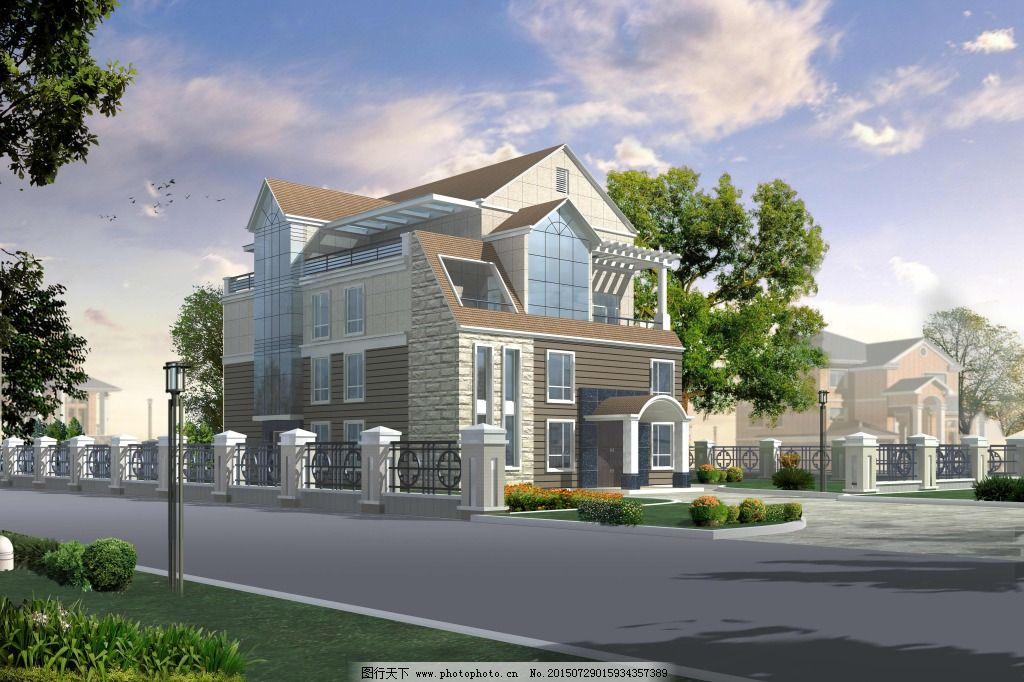 设计图库 cad素材 建筑图纸  欧美别墅大型别墅免费下载 cad图 房屋